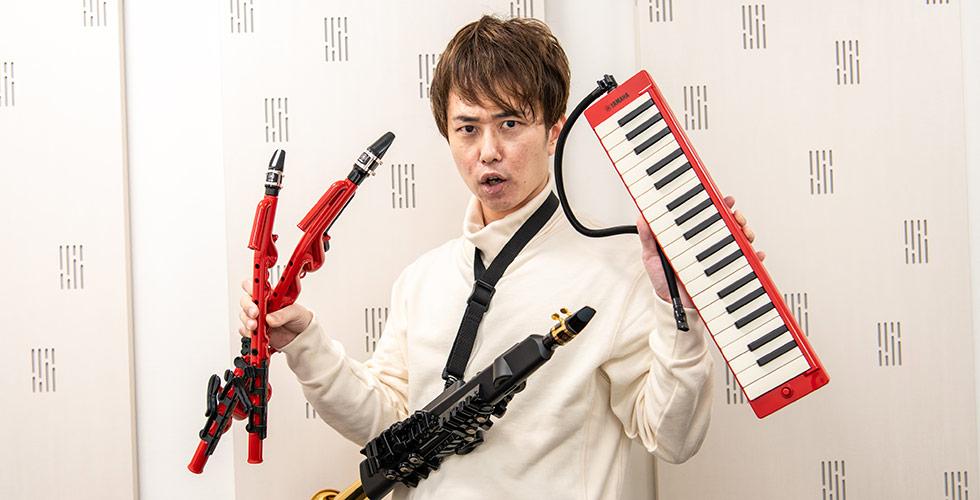 """楽器演奏大好き芸人""""西村ヒロチョ""""が吹く!売り切れ続出!話題のヤマハ管楽器新製品レポート"""