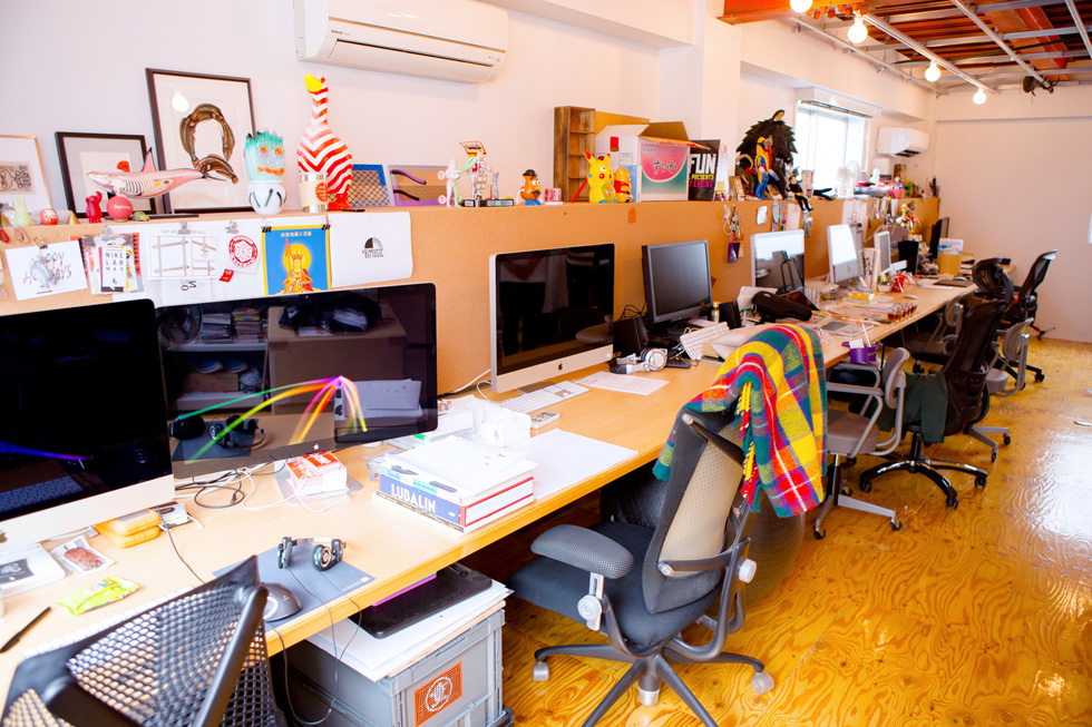CEKAIの2階はグラフィック・モーションの制作オフィス
