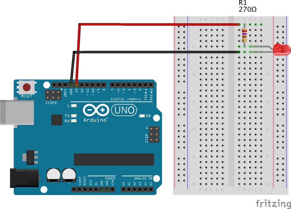 「Arduinoをはじめようキット」に含まれているパーツのみを使う(9)