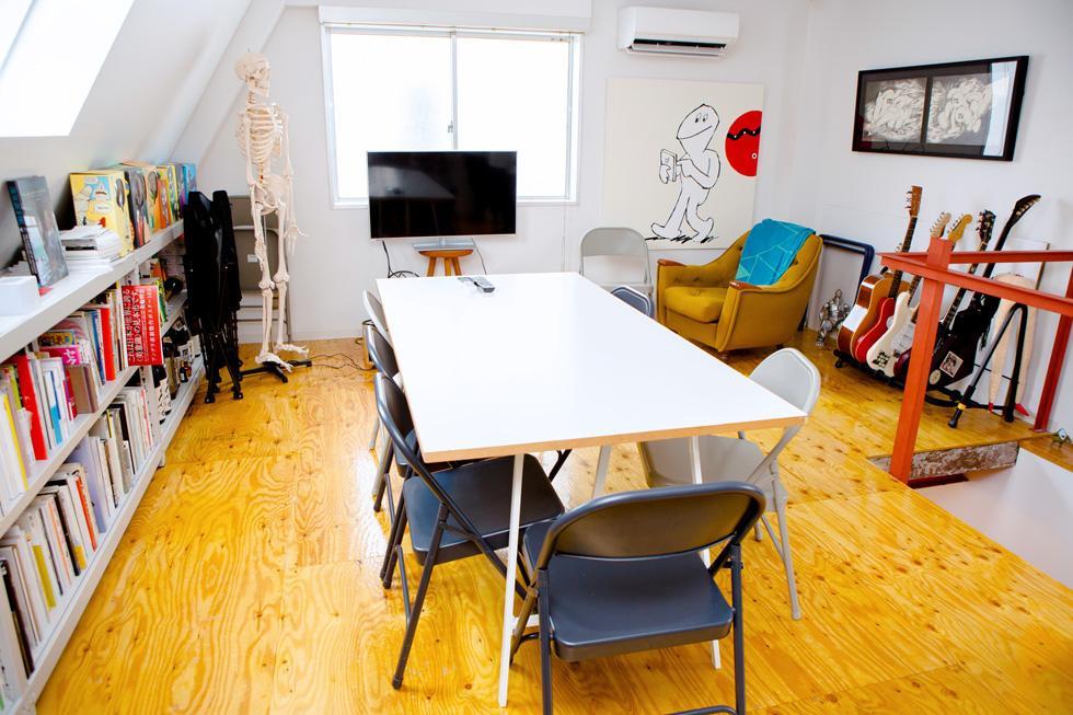 CEKAIのオフィスの3階は客室