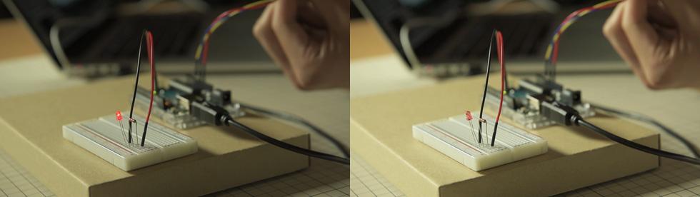 可変抵抗器をブレッドボードから離す(8)
