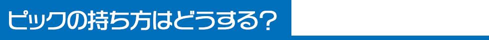 ピッキングフォーム(3)